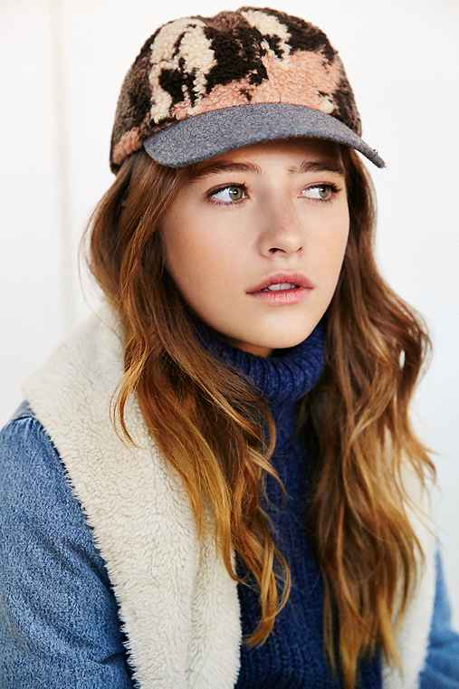 Patterned Sherpa Baseball Hat,GREY MULTI,ONE SIZE