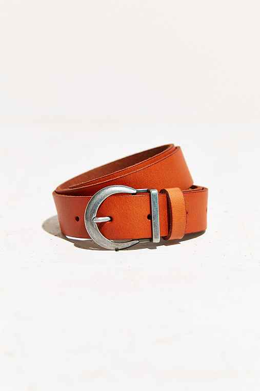 BDG Moon Buckle Belt,BROWN,L