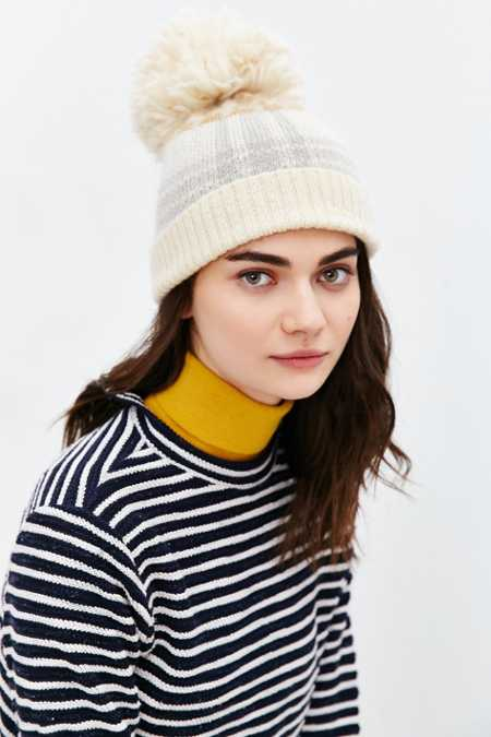 Woolrich Plaid Menswear Pompom Hat