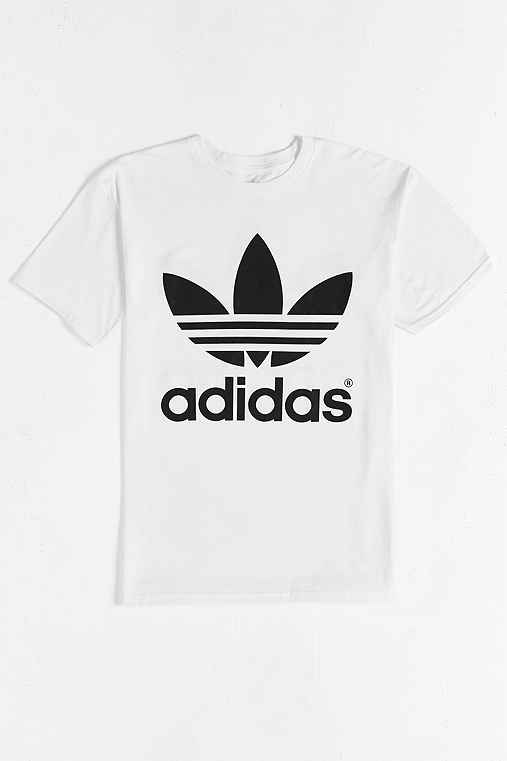 adidas Originals Mirror Trefoil Tee,WHITE,S