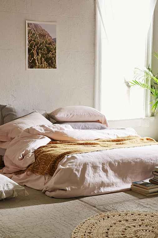 Assembly Home Linen Blend Duvet Cover,ROSE,FULL/QUEEN