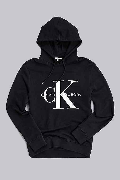 Calvin Klein Jeans Reissue Hoodie Sweatshirt,BLACK,L