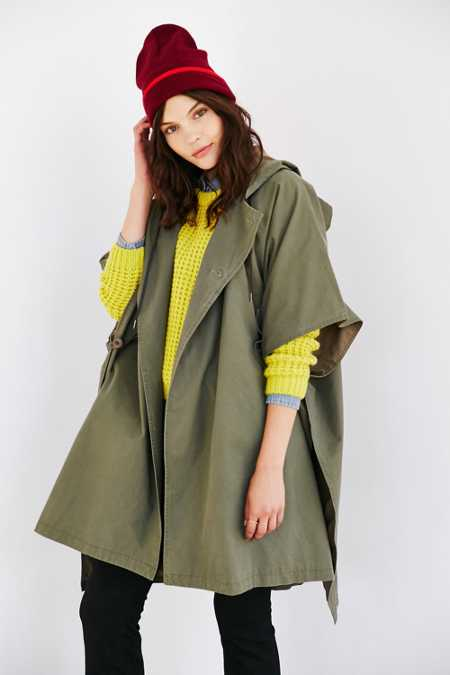 BDG Military Poncho Jacket