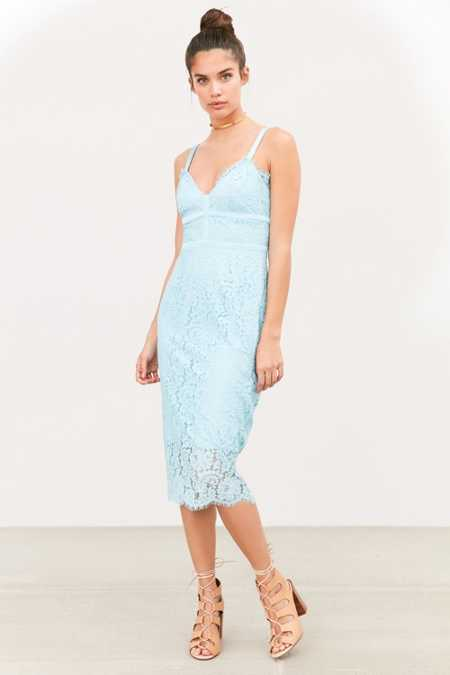 Keepsake Interlude Lace Midi Bodycon Dress