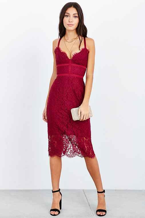 Keepsake Interlude Lace Midi Bodycon Dress - Urban Outfitters
