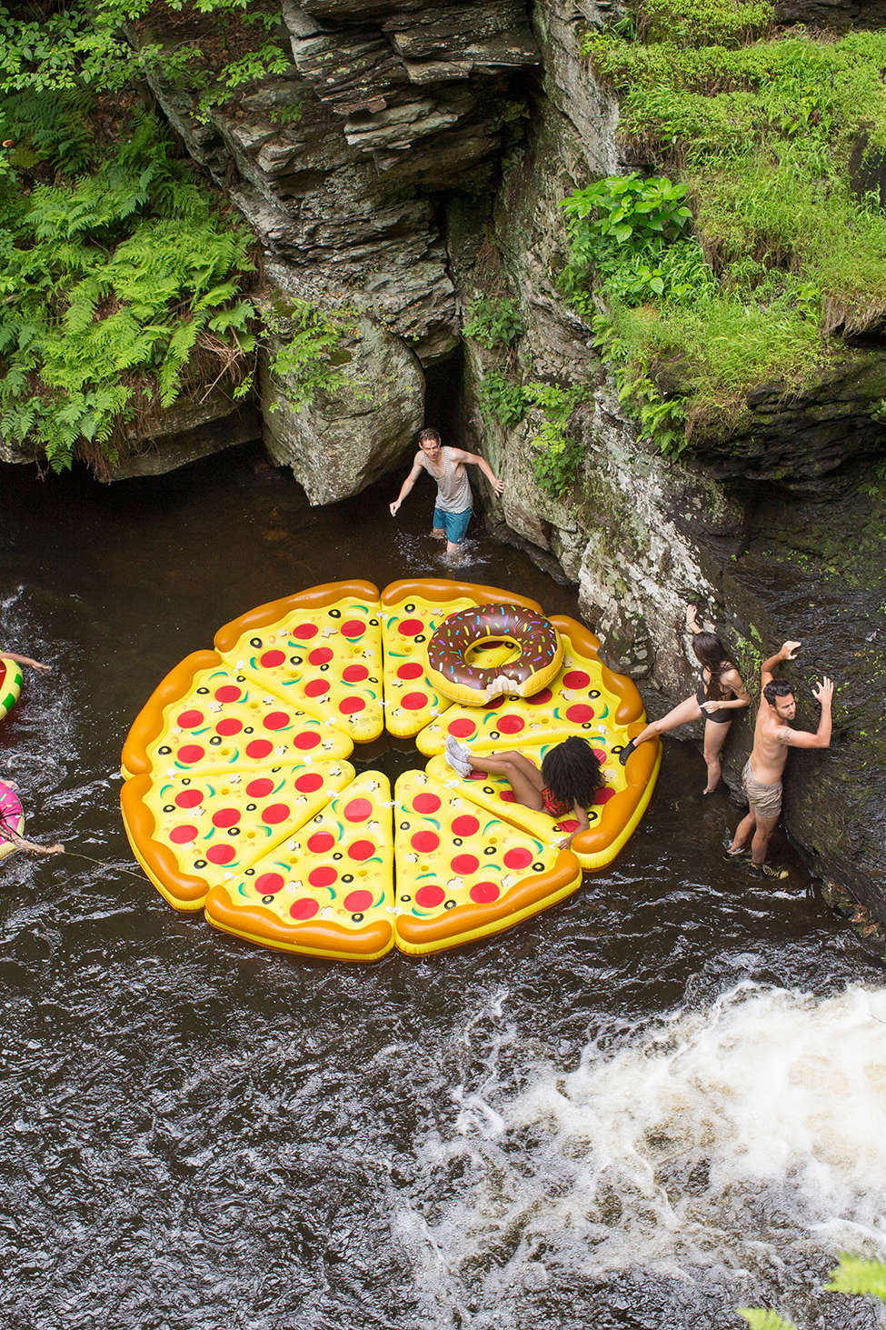 Epic pizza float - perfect for a lazy day on the lake with friends
