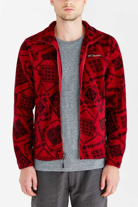 Columbia Buckeye Springs Patterned Fleece Jacket