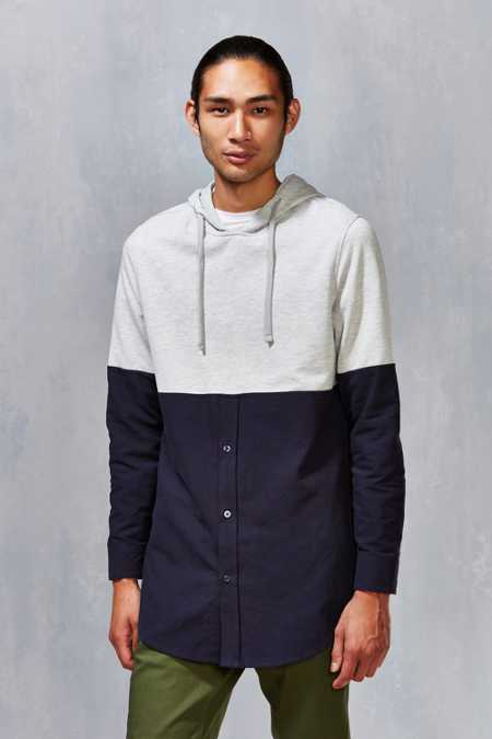 Hooded Oxford Pullover Shirt