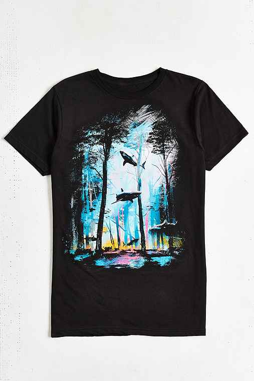 Design By Humans Shark Forest Tee - Urban Outfitters