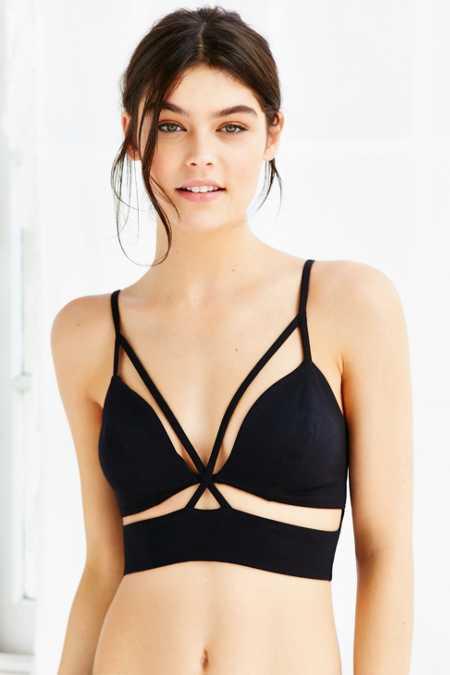 Out From Under Ponte Cross Front Bra Top