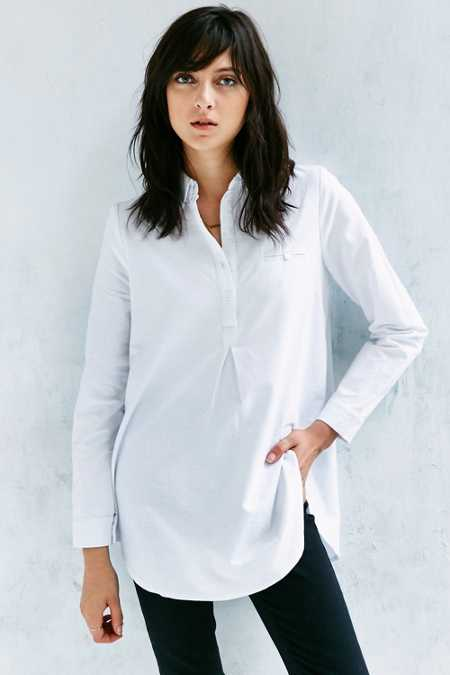 BDG Popover Oxford Tunic Top