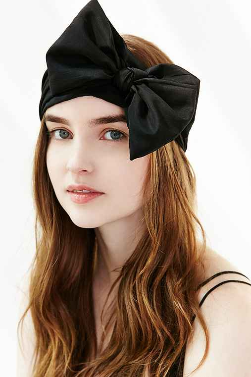 Silk Bow HeadwrapBLACKONE SIZE $24.00 AT vintagedancer.com