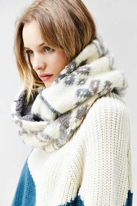 Brushed Plush Lined Eternity Scarf