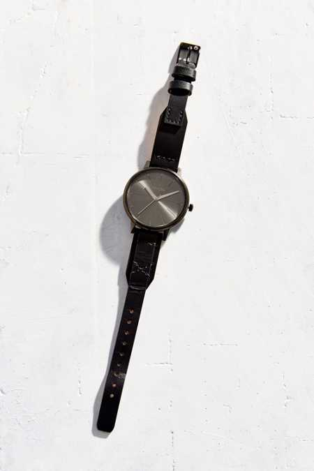 Nixon Kensington Leather Black Watch