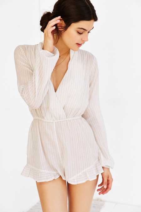Out From Under Beach Striped Romper