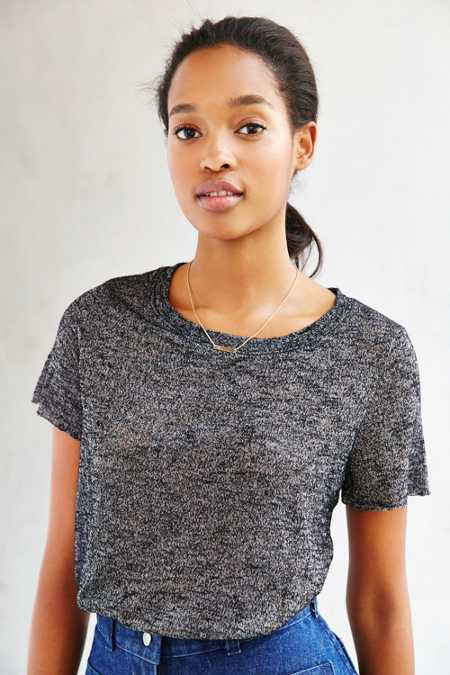 Project Social T Isabelle Crew-Neck Cropped Top