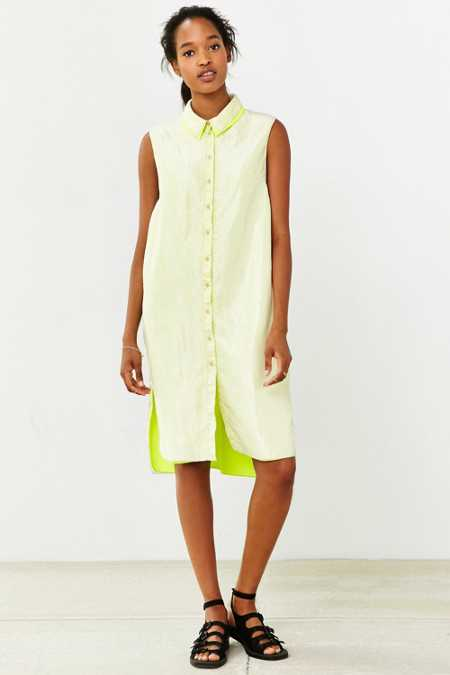 Martel Layered Sleeveless Shirt Dress