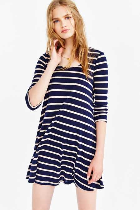 BDG 3/4 Sleeve Swingy Tee Dress