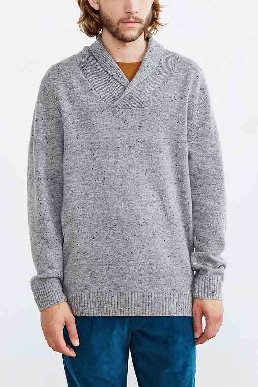 Pendleton Pullover Shawl Collar Sweater,GREY,S