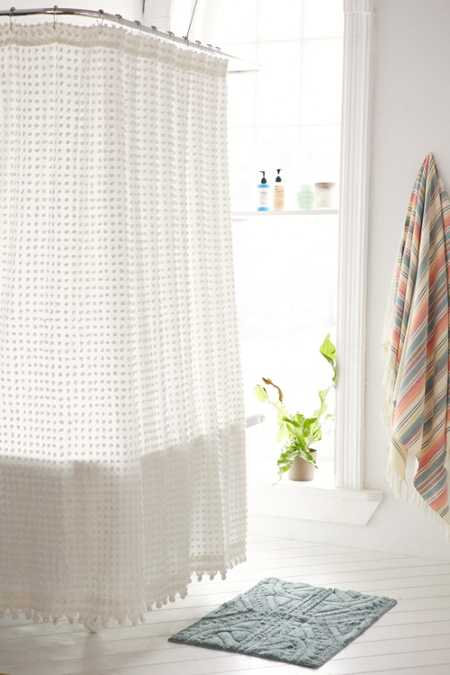 Plum & Bow Pom Pom Dot Shower Curtain