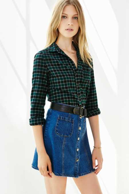 BDG Katie Flannel Button-Down Shirt