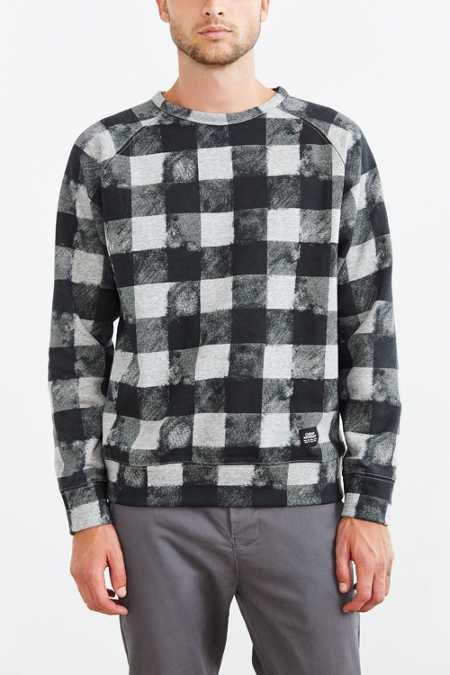 Cheap Monday Rules Fuzzy Check Sweatshirt