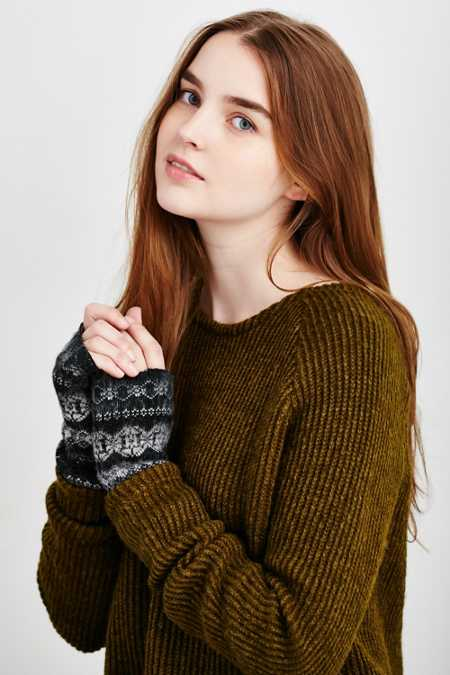 Brushed Ski Fair Isle Fingerless Armwarmer