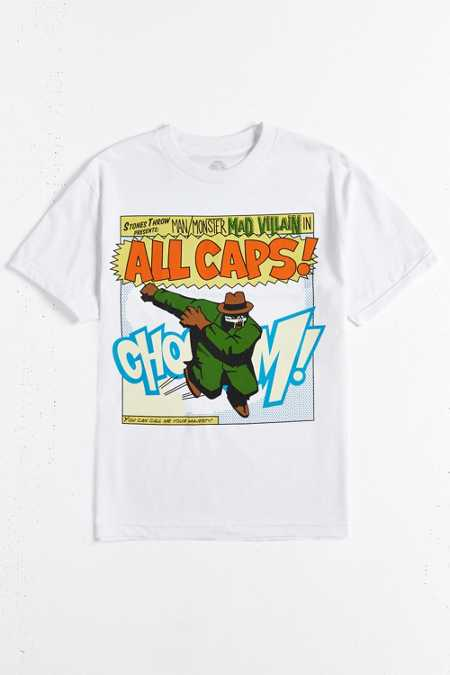Stones Throw Records Madvillain All Caps Tee