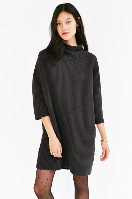 Truly Madly Deeply Rib-Knit Tee Dress
