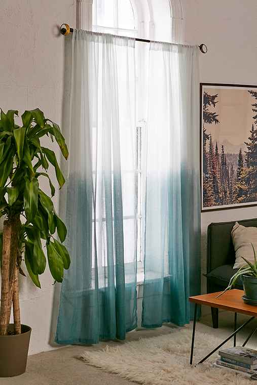 Assembly Home Dip-Dyed Curtain,TEAL,52X96