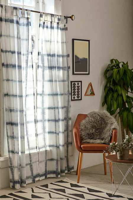 4040 Locust Accordion Indigo Dye Curtain