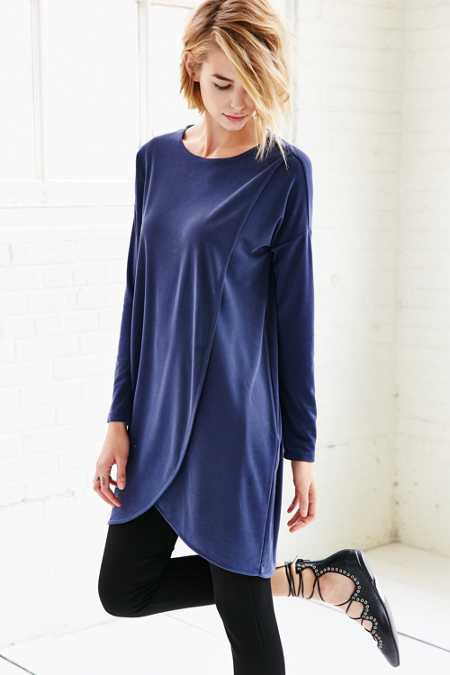 Silence + Noise Tulip Hem Tunic Dress