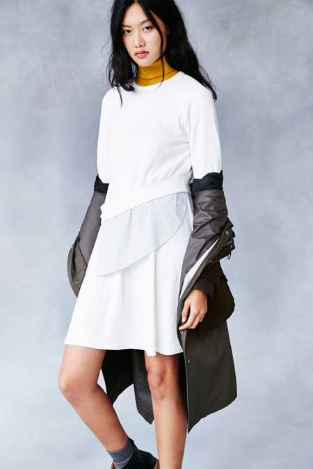 Shades Of Grey By Micah Cohen Multi-Layer Dress