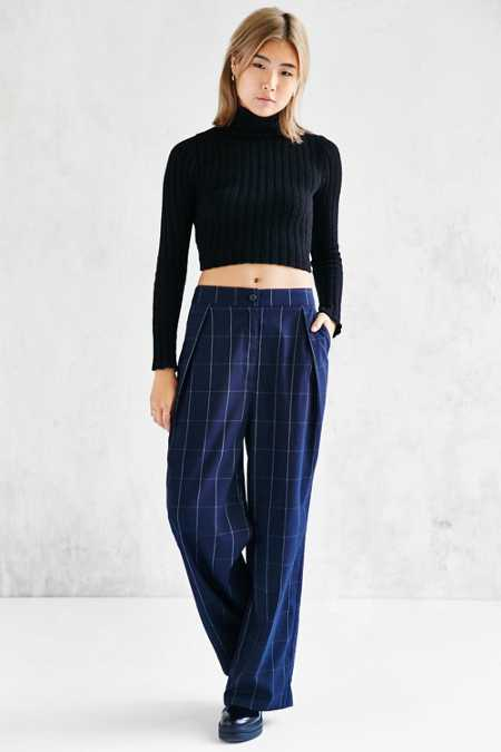 Shades Of Grey By Micah Cohen Pleated Wide Leg Pant