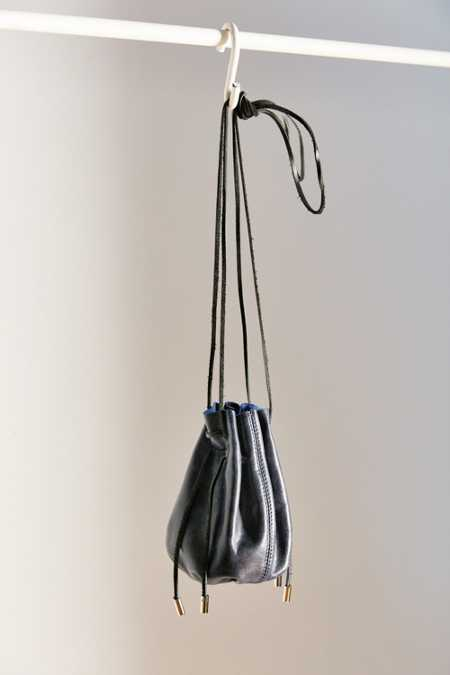 Ecote Waxed Leather Mini Bucket Bag