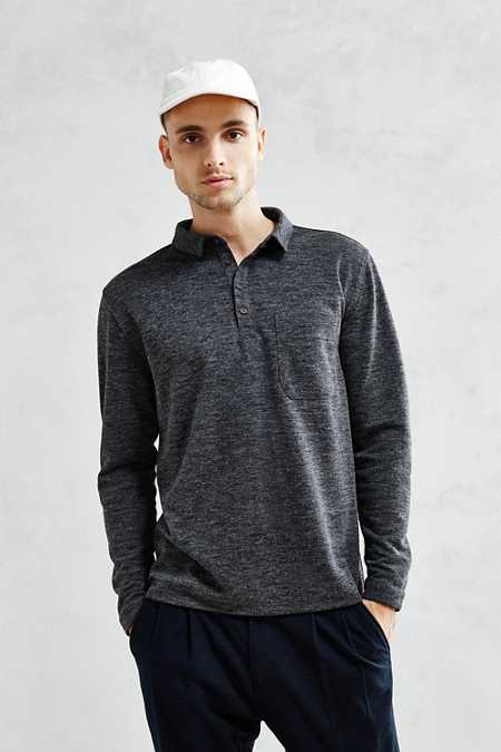 Your Neighbors Boxy Long-Sleeve Polo Shirt