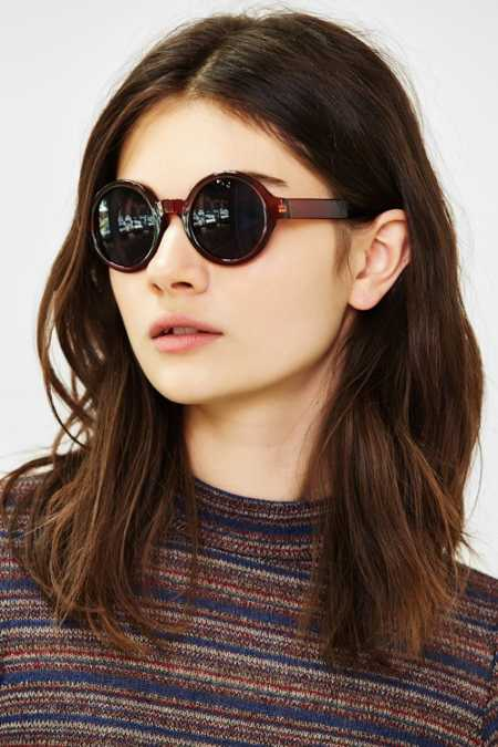 Autumn Preppy Round Sunglasses