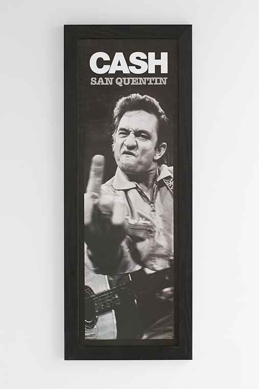 Johnny Cash San Quentin Framed Wall Art - Urban Outfitters