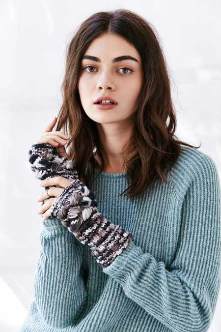 Spacedyed Chunky Cable Fingerless Glove
