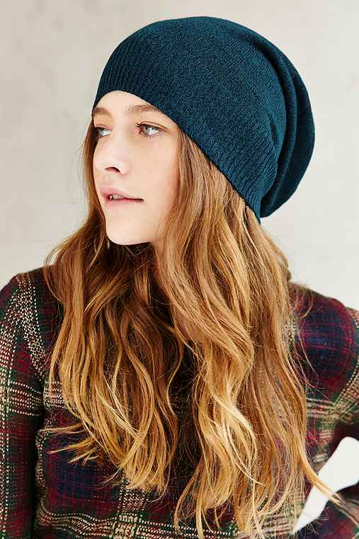 Fine Gauge Super Slouch Beanie,GREEN MULTI,ONE SIZE