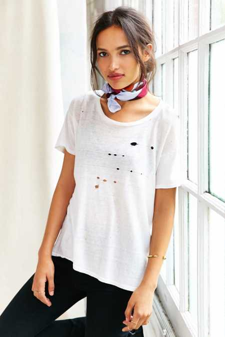 Vintage Destroyed White Tee