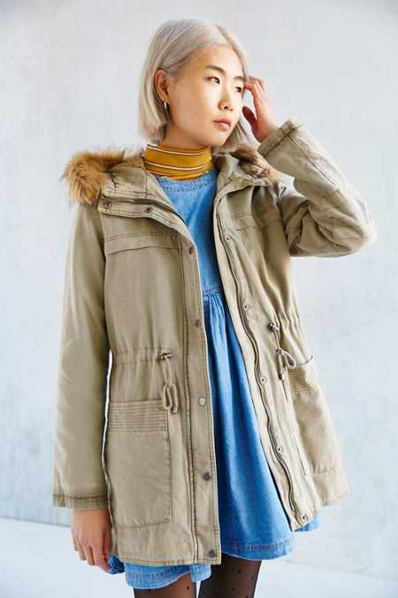 Levi's Faux Fur Hooded Field Jacket