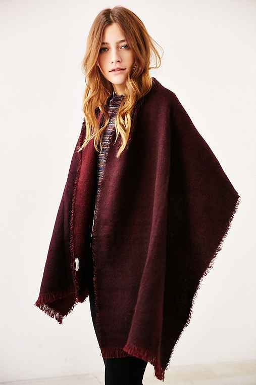 Avant Garde Brushed Woven Scarf,MAROON,ONE SIZE