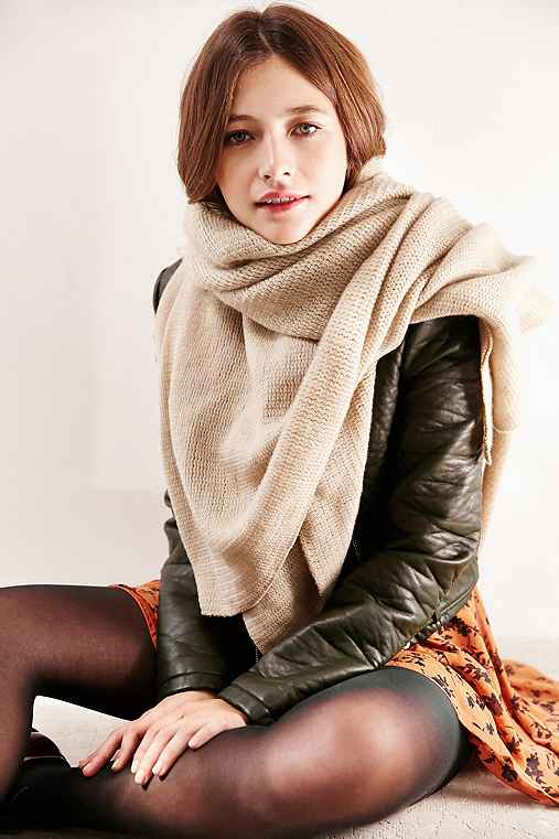 Femme Super Soft Square Scarf,OATMEAL,ONE SIZE