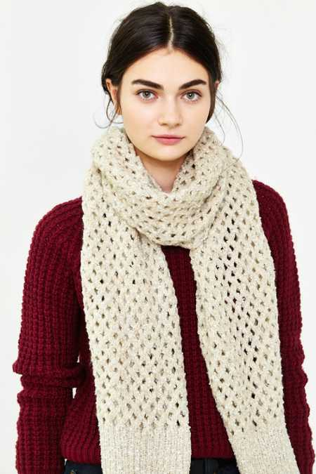 Open Lattice Knit Scarf