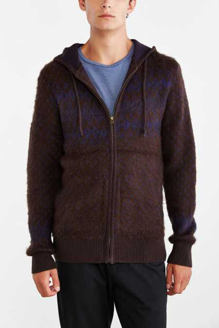 Koto Pattern Zip-Up Hooded Sweater