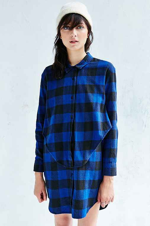 Cheap Monday Raw Flannel Dress,BLUE MULTI,M