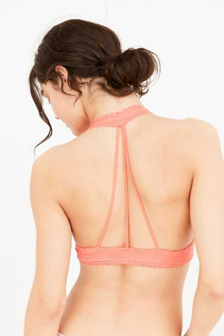 Out From Under Strappy Back Halter Bra