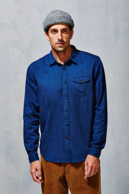 CPO Indigo Button-Down Shirt
