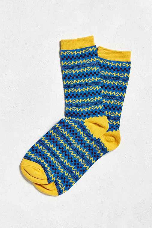 Skate Pattern Sock,BLUE,ONE SIZE